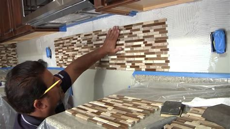 how to install glass tiles on kitchen backsplash tile backsplash how to install menards
