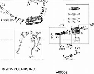 Polaris Atv 2016 Oem Parts Diagram For Engine  Air Intake