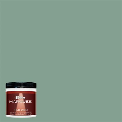 behr marquee 8 oz mq6 11 mossy bench interior exterior paint sle mq30416 the home depot