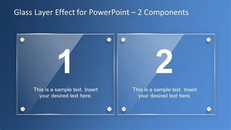 glass layer effect powerpoint template slidemodel