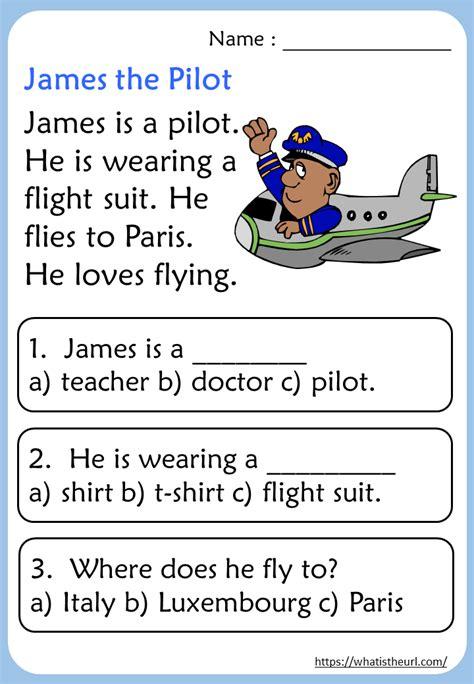 kindergarten reading comprehension passages rel