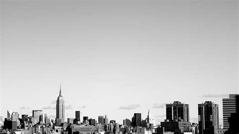 york city black  white background wallpaper hd