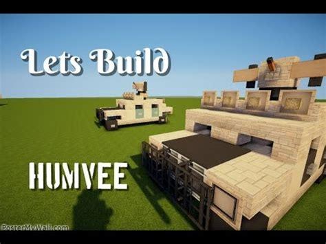 minecraft army jeep how to make a minecraft humvee hmmwv army vehicle doovi
