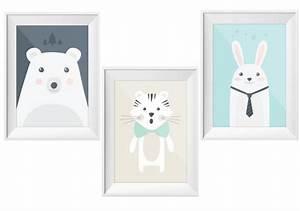 Poster Chambre Bébé : les animaux s 39 affichent chez les petits joli place ~ Teatrodelosmanantiales.com Idées de Décoration