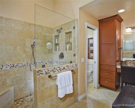 walk  shower   wall   glass bathroom