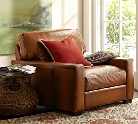 Pottery Barn Turner Sofa Look Alike by Turner Square Arm Leather Armchair Pottery Barn