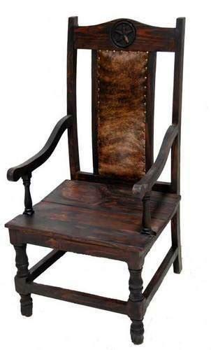 Rustic Cowhide Furniture by Rustic Arm Cowhide Chair Solid Wood Western Cabin