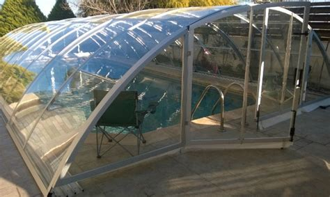 Framed Pool Canopy Cover by Types Of Round Edge In Ground Pool Enclosures Design