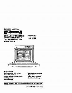 Kenmore Convection Oven 911 41785 User Guide