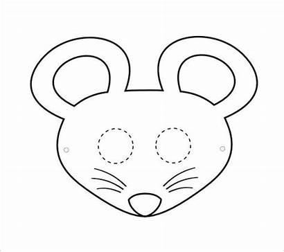 Mouse Mask Animal Template Templates Masks Coloring