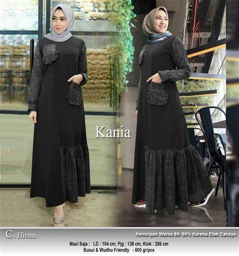 gamis katun terbaru  kania hitam model baju gamis