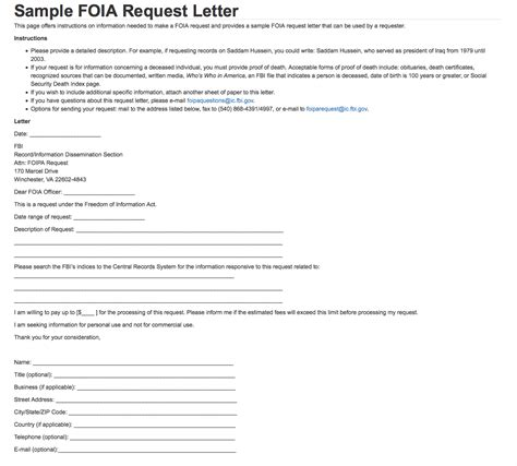 sample foia request letter fbi