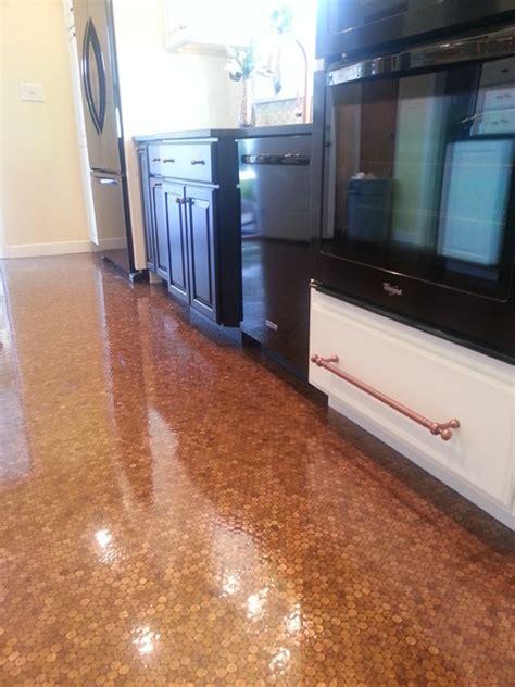 black white  copper kitchen remodel transitional