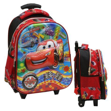 jual tas trolley anak tk import cars mcqueen 5d timbul hologram merah di lapak onlan shop