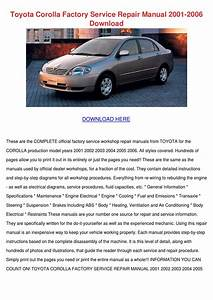 Toyota Corolla Factory Service Repair Manual By Sharee