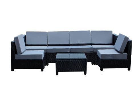 7 Pcs Luxury Wicker Patio Sectional Indoor Outdoor Sofa