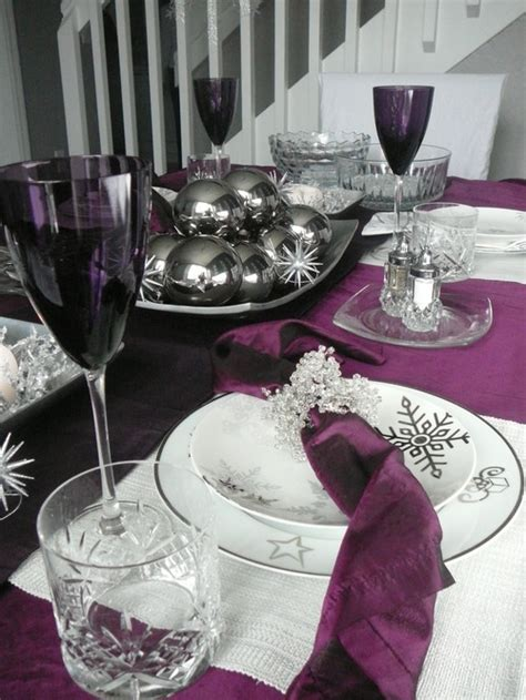 silver and purple christmas table decorations all the whos down in whoville purple and silver christmas