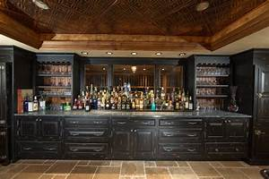 Custom Built Home Basement Bar - Traditional - Home Bar