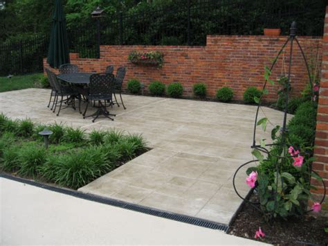 concrete patios designs ideas st louis mo imprinted concrete