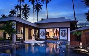 Modern beach house wallpaper #6425