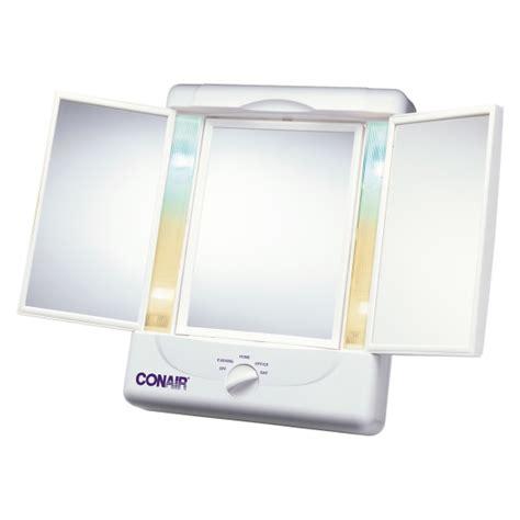 conair 5x magnified lighted makeup mirror conair two sided lighted makeup mirror