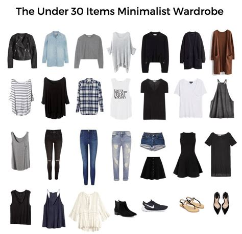 How To Create A Minimalist Wardrobe  Printable Checks