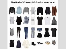 How To Create A Minimalist Wardrobe Wardrobe capsule