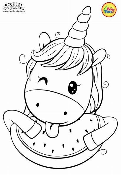 Coloring Pages Unicorn Printables Animal Bojanke Preschool