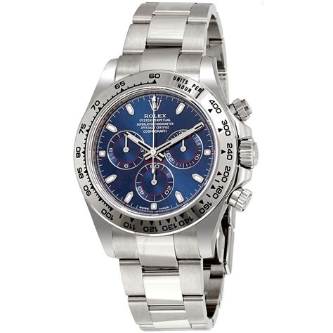 Rolex Cosmograph Daytona Blue Dial 18K White Gold Oyster ...
