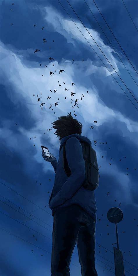 anime wallpapers foto sad girl keren