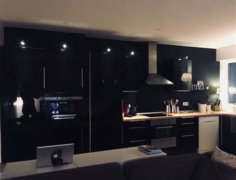mur noir cuisine cuisine mur noir mat