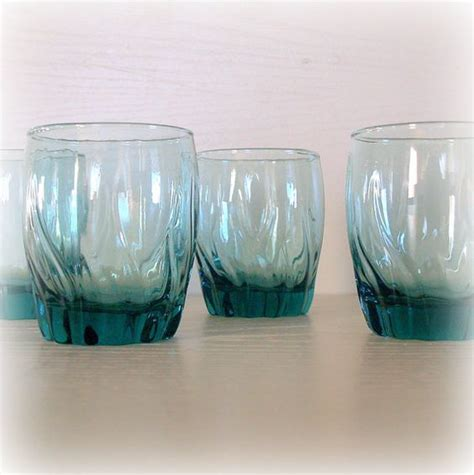 Drinking glass, Teal blue and Vintage bar carts on Pinterest