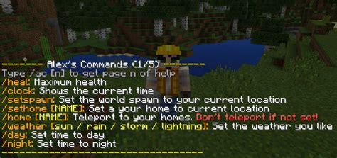 alexs commands mod minecraft pe mods addons