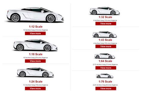 Model Car Size Guide