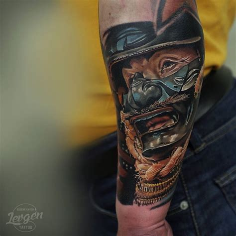japanese warrior mask tattoo  arm  tattoo ideas gallery