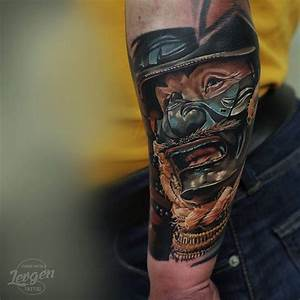 Japanese Warrior Mask tattoo on Arm | Tattoos | Pinterest ...