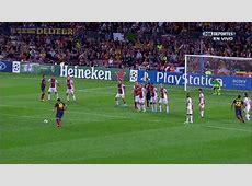 Gif Lionel Messi Barcelona freekick 10 v Ajax 101