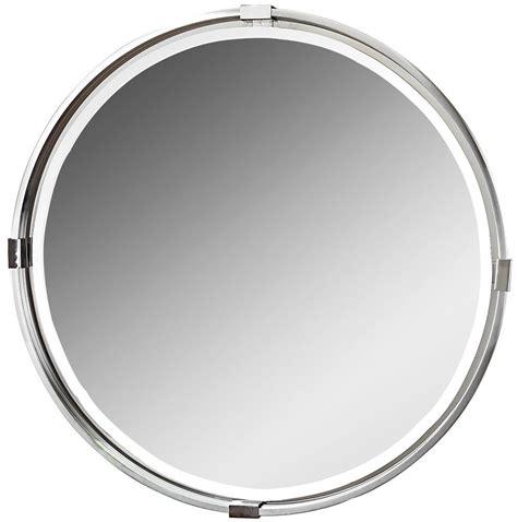 brushed nickel mirror tazlina brushed nickel round mirror 09109 uttermost