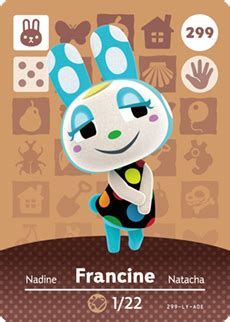 Make your life easy with the tried and tested custom amiibo cards for your home, office, shop, and vault. Francine   Happyhomedesigner Wikia   Fandom