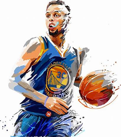 Curry Stephen Basketball Player Clipart Steph Drawing