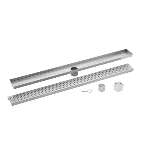 linear drain bathroom sink ipt sink company 60 in stainless steel square grate