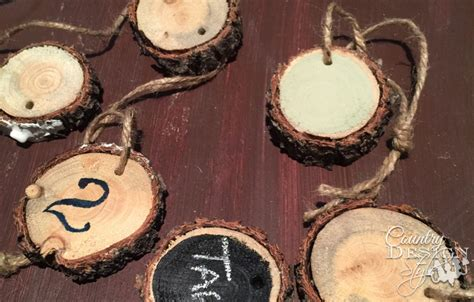 How To Make Wood Slice Tags  Country Design Style