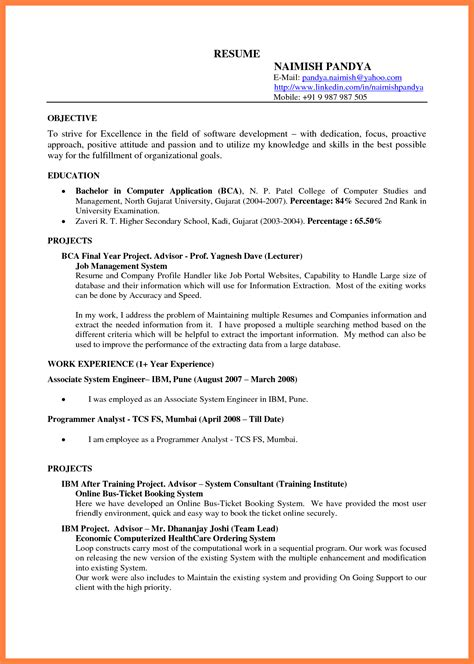 resume format with photo doc 28 images 10000 cv and