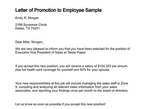 letter  promotion
