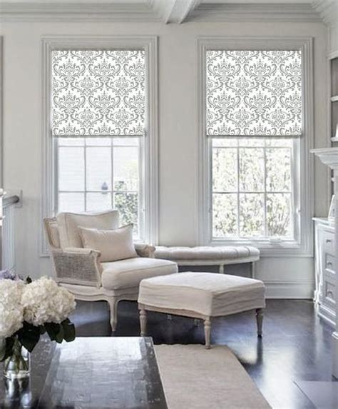 Damask Classic Gray Patterned Printed (dam101) Window