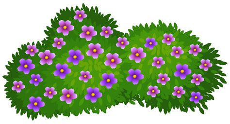 Bush Clipart Flowers Shrub Clipart Clipground