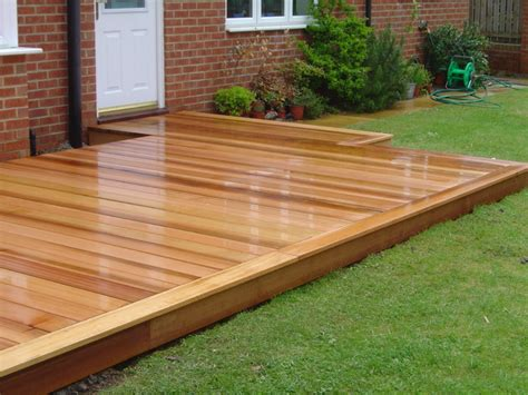 western red cedar deck  green onion rustic landscape