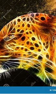 Abstract Colorful Leopard On A Colorful Abstract ...