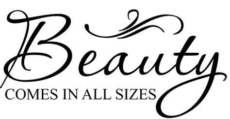 beauty   size wall vinyl sticker decal decor quote