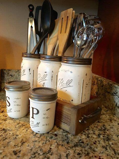 kitchen salt storage jar utensil holder canister set jar soap 2519